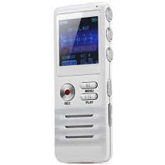 K6 Multifunctional 8GB Real Time Display Digital Audio Voice Recorder (White) (INTL)