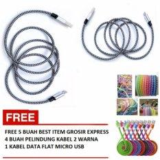 Kabel Data Tali Sepatu Micro Usb 3 Meter Multicolour Gratis 4 Source Gratis 4 Pelindung