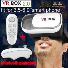 Kacamata Virtual 3D VR Box 2 + Remote Bluetooth