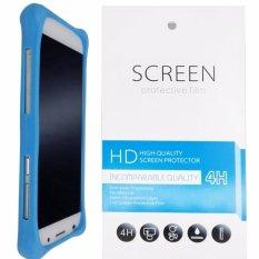 Kasing Silikon Universal Bumper Case Wadah Cover Casing - Biru + Gratis 1 Clear Screen Protector untuk Samsung Galaxy A5 (2017)