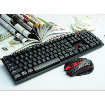 Keyboard Mouse Wireless - Keyboard Gaming - Multimedia HK6500 - Black