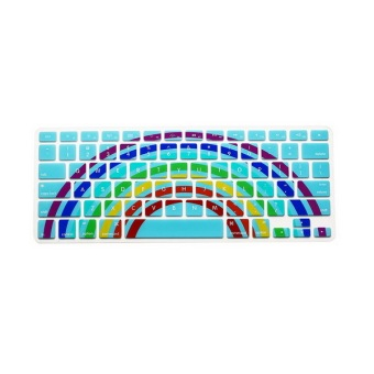 Keyboard Protector 11.6 Inch For Apple MacBook Air MacBook Pro (Green Sunflower Rainbow) - Intl