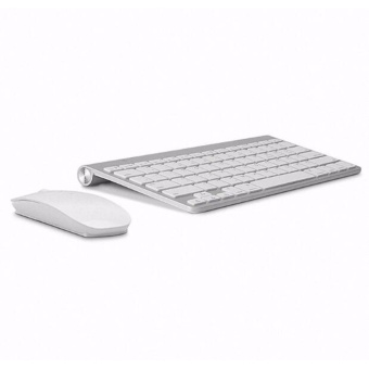 Keyboard Ultra-Thin Wireless Keyboard Mouse Combo 2.4G WirelessMouse for Apple Keyboard Style Mac Win XP/7/8/10 Tv Box - intl