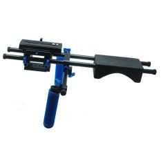 Koolertron DSLR Shoulder PAD Support Mount Hand Grip15mm Rail Rod (Black)