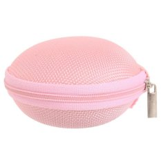 LALANG Carrying Storage Bag Hard Case For Earphone Headphone USB Cable (Pink) (Intl)