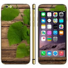 Leaf Pattern Wood Texture Mobile Phone Decal Stickers For IPhone 6 6S