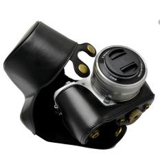 Leather Camera Bag Case PU Cover Pouch For Camera Model A5000 A5100NEX 3Nr