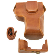 Leather Camera Case Protector Bag For Olympus OM-D E-M1 EM1 Camera PU (Coffee) (Intl)