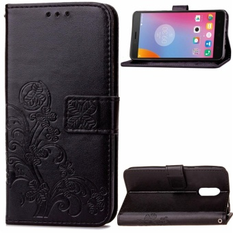 Jual Lenovo K6 Note Case, Lucky Clover PU Leather Flip Magnet Wallet Stand Card Slots Protective Case Cover For Lenovo K6 Note (Black) - Intl - Saturcase ...