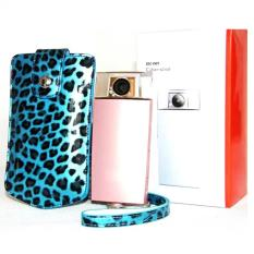 Leopard PU Leather Camera Holster Photo Handbag Case For Sony KW1 TR500 (Blue) - Intl