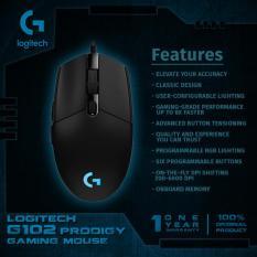 Logitech G102 Prodigy Gaming Mouse - Hitam