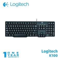 Logitech Keyboard K100 PS2 - Hitam