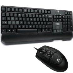 Logitech Keyboard Mouse G100s Combo Gaming - Hitam