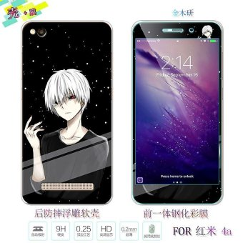 Lovely 3D Painting Front Full Cover Color Tempered Glass Case + Back TPU Case Screen Protector