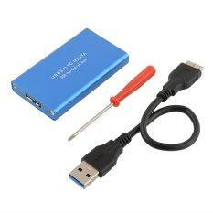 LS-721M USB 3.0 To MSATA SSD Storage Case Hard Disk Drive (Blue) (Intl)