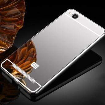 Luxury Plating Mirror Case Aluminum Metal Bumper + Acrylic Hard Back Cover for Xiaomi Redmi 4A - intl