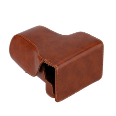 Luxury Vintage PU Leather Camera Bag Case For Canon EOS M3 M III18-55mm DSLR Camera Cases With Shoulder Strap