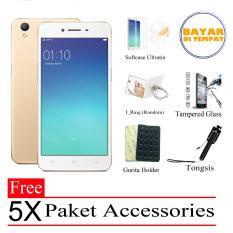 Marintri Oppo A37 Ram 2GB/16GB (Free 5x Paket Accessories) - Gold -