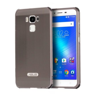 Meishengkai Case For Asus ZenFone 3 Max (ZC553KL) Luxury MetalAluminum Bumper Detachable + Brushed PC Hard Back 2 in 1 CoverUltra Thin Frame Grey - intl
