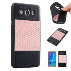 Meishengkai Case For Samsung Galaxy J7 2016 / J710 Carbon Fiber Resilient Drop Protection Anti-Scratch Rugged Armor Case Black Powder - intl