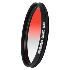 MENGS 55mm Graduated RED Lens Filter With Aluminum Frame For Canon Nikon Sony Fuji Pentax Olympus Etc DSLR Camera