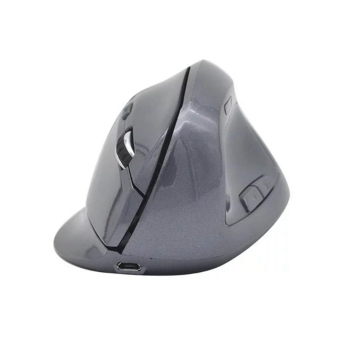 Miimall Rechargerable Ergonomic Optical Wireless Vertical Mouse For Computer And Laptop (Grey)