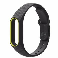 Mijobs Mi Band 2 Strap Aurora double color Silicone Strap Bracelet Replacement Wristband wrist Strap - intl