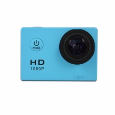 Mini Action Camera, Full HD 720P 30m Waterproof Sports DV Camcorder with 2 Inch LCD Screen for Extreme Outdoor Sports Color:Blue - intl