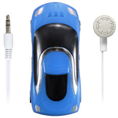 Mini Car Shape MP3 Music Player with Bundle USB and Earphone Hole Blue