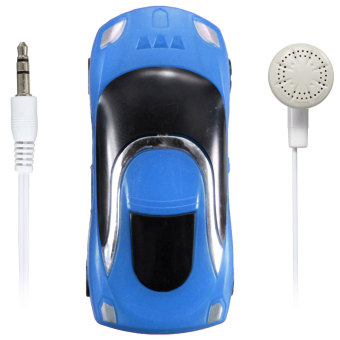 Mini Car Shape MP3 Music Player With Bundle USB And Earphone Hole (Blue)