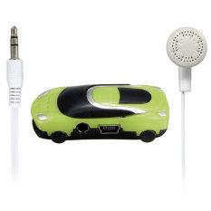 Mini Car Shape MP3 Music Player with Bundle USB and Earphone Hole Green (Intl)