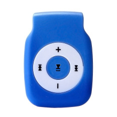 Mini Clip Metal USB MP3 Player Support Micro SD TF Card Music Media Blue