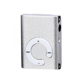 Mini Clip Metal USB MP3 Player Support Micro SD TF Card Music Media Silver Free Shipping