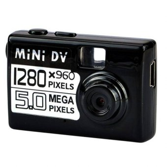Mini DV HD Spy Camera 5MP 720p Recorder Hidden Cam Security Digital Video Audio Recording Camcorder IR Night Vision Sensor CMOS Rekam Keamanan Kamera Tersembunyi Pengintai Mata-Mata Bagus Kecil Unik Smallest - Hitam