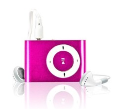 Mini Fashoin Clip Metal USB MP3 Music Media Player (Pink)
