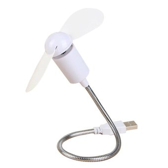 Mini Flexible USB Cooling Fan Cooler Ventilador For Laptop Desktop Pc Computer (White)