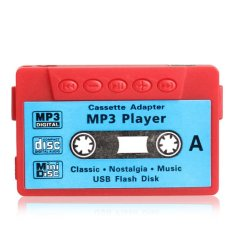 Mini MP3 Player TF USB Flash Disk Cassette Speaker Red R1BO (Intl)