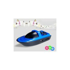 Mini Ship Design MP3 Player with TF Card Reader Blue