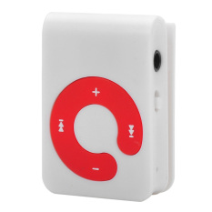 Mini Sports Clip-On MP3 Music Player (White / Red)
