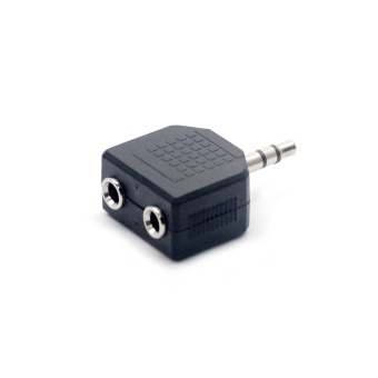 Mini Stereo 3.5mm Audio Jack Male to Dual 3.5mm Female DoubleEarphone Headphone Y Splitter Adapter Plug for MP3 Phone - intl