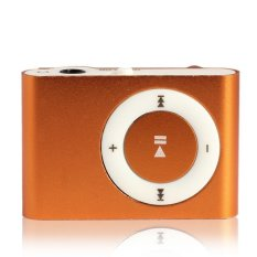 Mini USB Clip Metal MP3 Support 1-8GB TF Card Orange