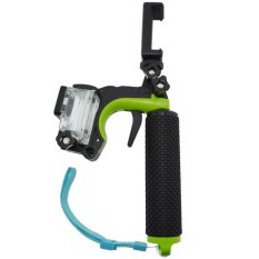 Monopod Shutter Controller with Floating Monopod + Smartphone Clamp + Waterproof Case for GoPro 3 - Hijau