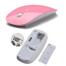 Moonar 2.4 gHz Mouse Optik USB Wireless Tanpa Kabel Untuk Laptop PC Tikus Berwarna Merah Muda