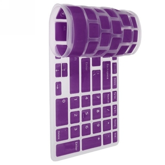 Moonar NEW US Keyboard Skin Cover Protector Film for DELL NewInspiron 15R N5110 M5110 (Purple)