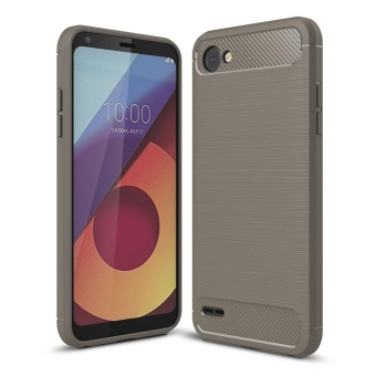 Mooncase Case for LG Q6 Carbon Fiber Resilient Drop Protection Anti Scratch Rugged Armor Case