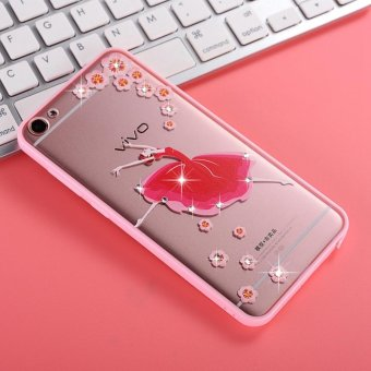 Mooncase Case For Vivo Y55 Rhinestone Soft TPU Bling Glitter Transparent Back Case Cover Dream Ballet