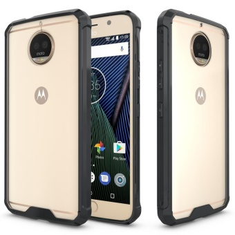 Mooncase for Motorola Moto G5S Plus Anti Shock Transparent Back Case Soft Thin TPU Case Cover Black - intl