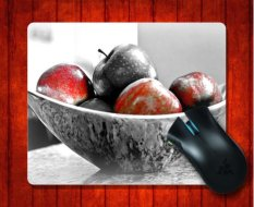 MousePad Metallic Fruit Bowl Still Life Food And Beverage For Mouse Mat 240*200*3mm Gaming Mice Pad - Intl