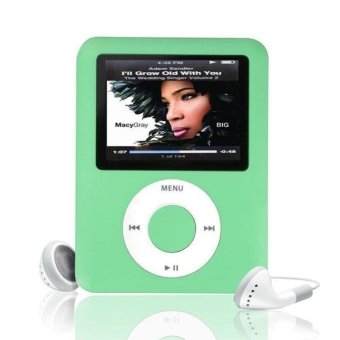 "MP3 8GB 1.8"" LCD Media Video Game Movie Radio FM 3th Generation MP4 Player Green"