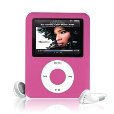 "MP3 8GB 1.8"" LCD Media Video Game Movie Radio FM 3th Generation MP4 Player Hot Pink Free Shipping - Intl"